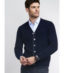 heren-vest met v-hals van cashmere