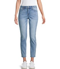 true religion women's collette high-rise tapered skinny jeans - clear water - size 30 (8-10)