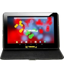 "10.1"" 1280 x 800 ips screen quad core 2gb ram tablet 32gb android 10 with black leather case"