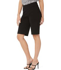 women's nydj sculpt-her(tm) ponte bermuda shorts, size x-small - black
