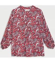 loft maternity paisley split neck blouse