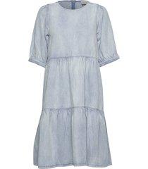 sammigz dress ms20 jurk knielengte blauw gestuz
