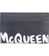 alexander mcqueen card holder with logo