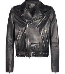 amiri perfecto biker-style leather jacket