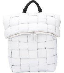 bottega veneta fold-top padded backpack - grey