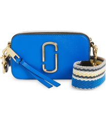 marc jacobs the snapshot leather crossbody bag - blue