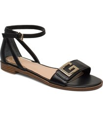 rashida/sandalo /leath shoes summer shoes flat sandals svart guess
