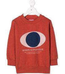 bobo choses moon supervisor sweatshirt - red