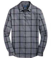 joe joseph abboud gray windowpane sport shirt