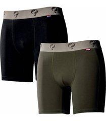 q1905 boxer 2-pack black / army green