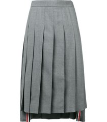 thom browne school uniform pleated skirt - grey