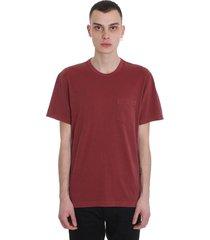 james perse t-shirt in bordeaux cotton