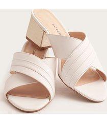 sandalias claras en x blanco 35