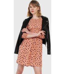 vestido coral-vinotinto  glamorous