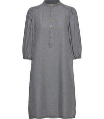 aura dress knälång klänning grå soft rebels