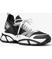 mk sneaker lucas in tessuto - nero/grigio (grigio) - michael kors