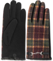 inc horse-bit-buckle plaid gloves, created for macy's