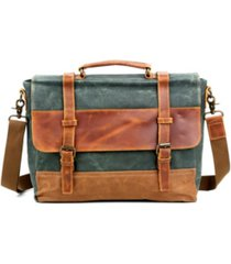 tsd brand stone creek waxed canvas briefcase