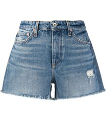 rag & bone mid-rise denim shorts - blue