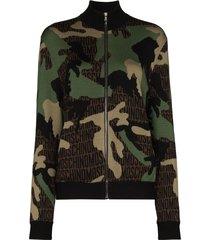 moschino camouflage-print wool sweatshirt - green