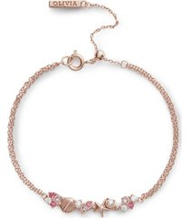 olivia burton women's under the sea chain bracelet - rose gold