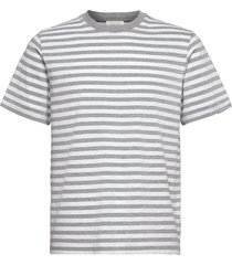 sami classic stripe t-shirt t-shirts short-sleeved grijs wood wood