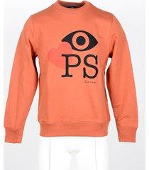 paul smith designer sweatshirts, men's orange sweatshirt
