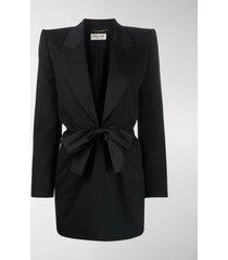 saint laurent bow tie tuxedo dress
