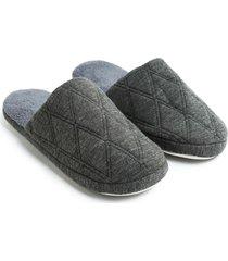 pantuflas hombre gris color gris, talla 39/40
