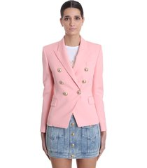 balmain blazer in rose-pink viscose