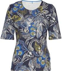 t-shirt 3/4-sleeve r t-shirts & tops short-sleeved blå gerry weber edition