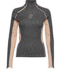 maven wool half zip base layer tops grijs johaug