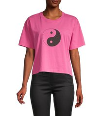 rebecca minkoff women's courtney yin yang graphic t-shirt - rose - size xs