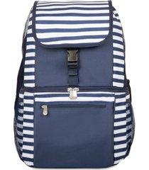 oniva by picnic time navy & white striped zuma cooler backpack