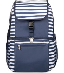 oniva by picnic time zuma navy & white striped cooler backpack