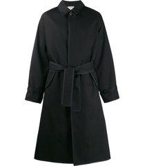 thom browne raglan car coat - black