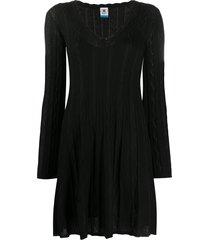 m missoni fine-knit mini dress - black