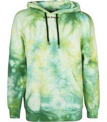 palm angels tie dye logo over hoodie