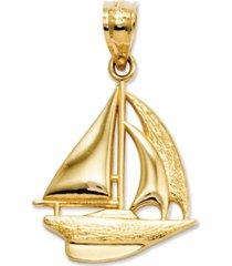 14k gold charm, sailboat charm