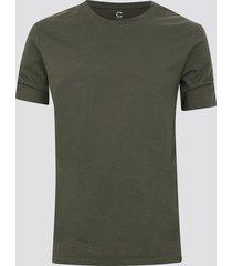 t-shirt i bomull - mörk militärgrön