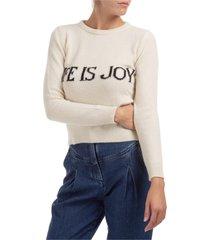 maglione maglia donna girocollo life is joy capsule collection