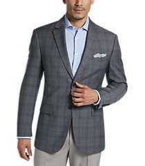 pronto uomo platinum modern fit sport coat gray plaid