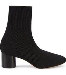 tasha rib-knit cylinder heel sock booties