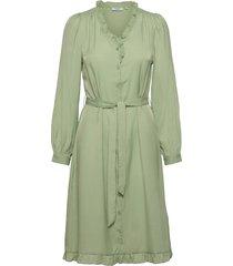 elysse ls shirt dress dresses everyday dresses grön moss copenhagen