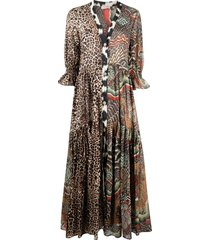 anjuna animal-print dress - brown