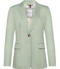 cotton pastel sb bla blazers business blazers grön tommy hilfiger