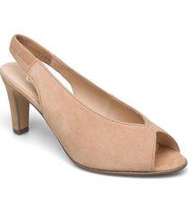 ankle-stap sandal shoes heels pumps sling backs beige gabor