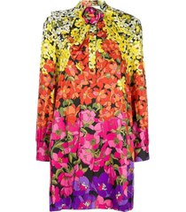 bloemenprint bow jurk