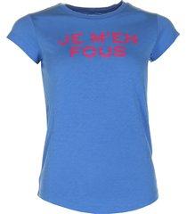 zadig & voltaire t-shirt skinny jmf blauw