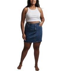 women's trendy plus denim mini skirt